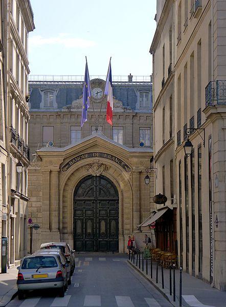 Fichier:P1040488 Paris Ier rue Catinat Banque de France rwk.JPG