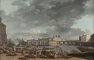 La pointe de l'île de la Cité vue du port Saint-Nicolas
