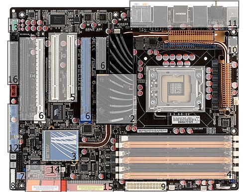 0701aa2c33a ATX-emaplaat (kiibistik ASUS X58)