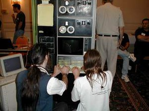 Vintage Computer Festival - DEC PDP-12 at the first VCF East, Marlborough, Massachusetts, (2001)