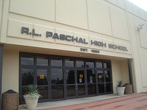 R. L. Paschal High School - The front entrance to PHS.