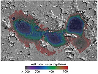 Eridania Lake - Image: PIA22059 fig 1eridaniadepths