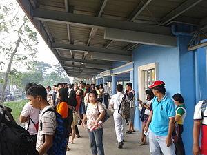 Mamatid (PNR station) - Station platform of Mamatid station