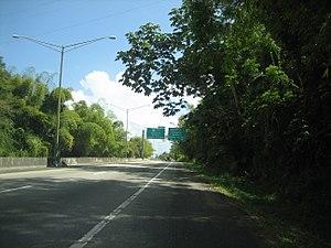 Puerto Rico Highway 60 - PR-30 approaching PR-60 in Humacao.