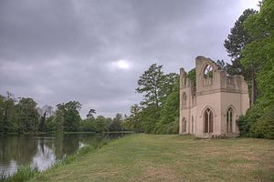 "Painshill - The ""abbey"", one of the surviving original follies"