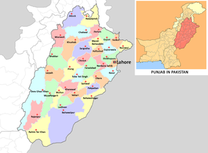 Map of Punjab