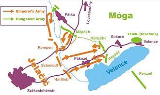 Battle of Pákozd - Battle in the Pakozdi triangle