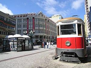 A Rua XV de Novembro, em Curitiba