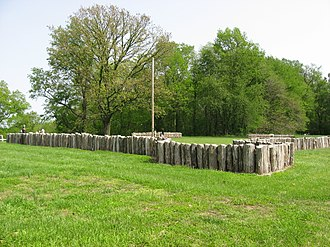 Forts of Vincennes, Indiana - Reconstructed palisades at the site of Fort Knox II
