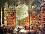 Pannini, Giovanni Paolo - Interior of a Picture Gallery with the Collection of Cardinal Silvio Valenti Gonzaga - 1740.jpg