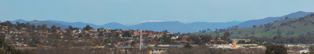 Mount Buffalo is visible from higher vantage points in the city.