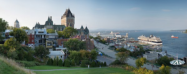 Panoramic view of Québec ville harbour