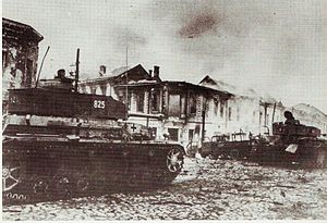 Battle of Kiev (1943) - Panzer IVs in Zhitomir, November 1943