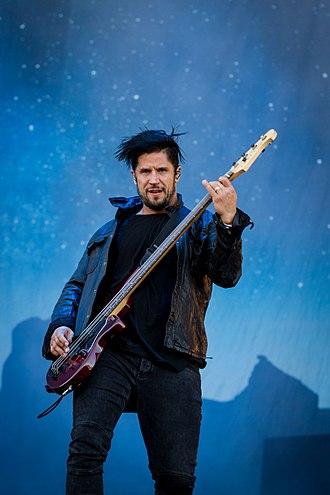 Papa Roach - Bassist Tobin Esperance.