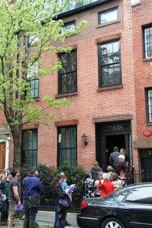 Greenwich Village Society for Historic Preservation - Village House Tour-goers enter a 19th-century townhouse on Commerce Street.