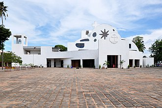 Pathanamthitta district - St. Peter's and St. Paul's Orthodox Church, Parumala, the shrine of St Geevargeese Mar Gregorios in Kerala. He is the first Indian to be canonised by Syrian Christians of India.