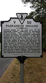 Paspahegh Native American tribe