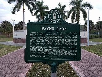 Payne Park - Historical marker located at former stadium location