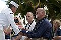 Pearl Harbor Survivor Theodore F. Roosevelt ashes placed aboard USS Utah 140320-F-AD344-161.jpg