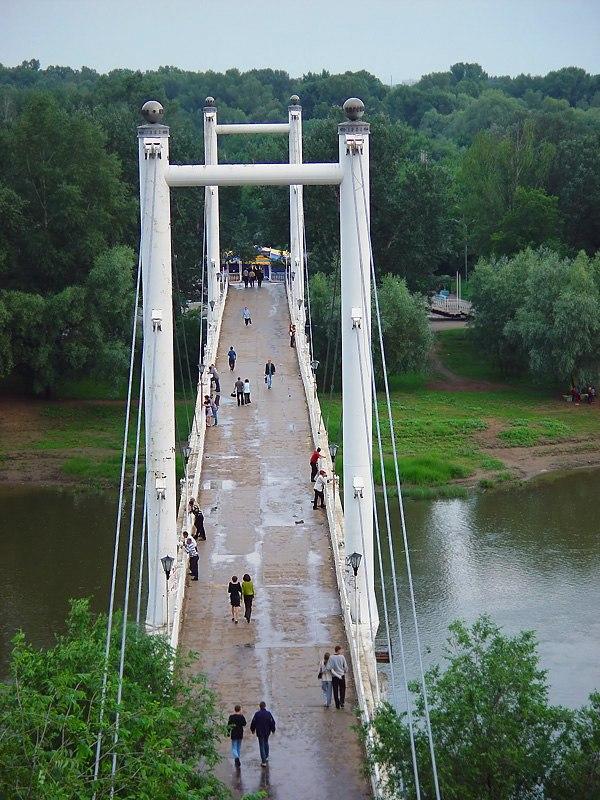 Pedestrian bridge in Orenburg