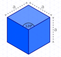 Perfect Cube in Standard Isometry in Inkscape.png
