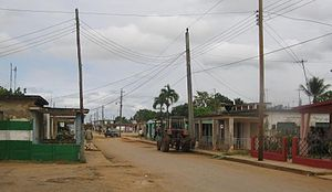 Perico, Cuba - A rural road near town's centre