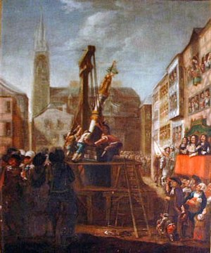Wars of Liège - The re-erection of the Liège ''Perron'', the symbol of local autonomy, in 1478 after the end of Burgundian rule.