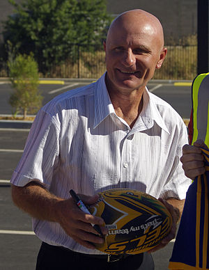 The Footy Show (rugby league) - Former presenter and Rugby League great Peter Sterling