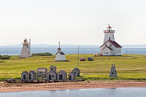 Wood Islands, Prince Edward Island - The Wood Islands Lighthouse and Range Lights