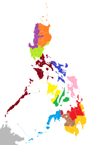 Administrative divisions of the Philippines - A map of judicial regions