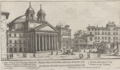 Piazza della Rotonda ampliata spianata con le strade intorno da N. S. Papa Alessandro VII by Giovanni Battista Falda (1665).png
