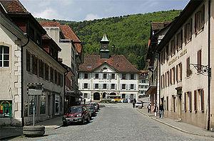 Moutier - The Hôtel de ville (town hall) of Moutier