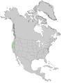 Pinus lambertiana USGS range map.png