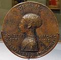 Pisanello, Sesta medaglia di Lionello d'Este, 1444, recto, met.JPG