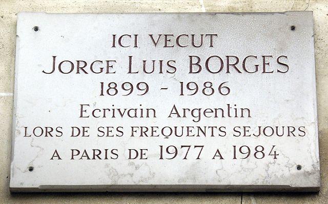 Мемориальная доска в Париже по адресу Beaux-Arts 13, где проживал писатель в 1977—1984гг.