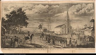 Illustration of the Demerara rebellion in British Guiana in 1823. Plate 6 Provisional Battalion.jpg