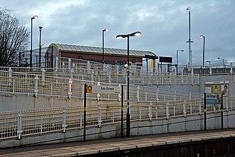 Lea Green railway station - Image: Platform ramp, Lea Green railway station (geograph 3818873)