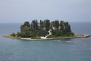 Pontikonisi - The islet of Pontikonisi