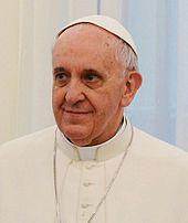 A photograph of Pope Francis