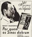 Por quem os sinos dobram Hemingway anúncio Brasil 1942 cropped.png