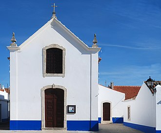 Church of Porto Covo - The austere facade of the Baroque-style parochial church of Porto Covo
