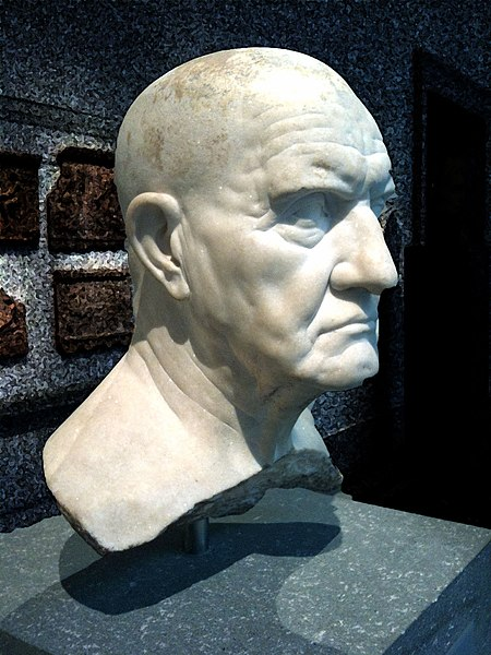 Marble Portrait bust of a man, 1st century BC, New York, Metropolitan Museum. Photo: Jorge Elia, Wikimedia Commons