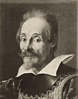 Portrait of Francesco Andreini in the costume of Capitano Spavento, at Viilandry - Fondazione Federico Zeri 112346 (detail).jpg