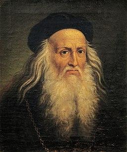 Portrait of Leonardo da Vinci by Lattanzio Querena
