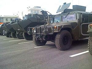 Polícia Aérea - Condor and Hummer armoured vehicles used by the Polícia Aérea