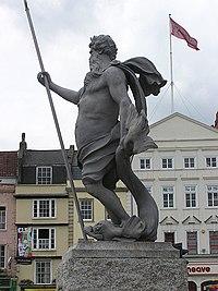 Άγαλμα του Ποσειδώνα στο Μπρίστολ.