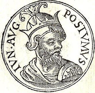 Postumus the Younger - Postumus the Younger from Guillaume Rouillé's Promptuarii Iconum Insigniorum