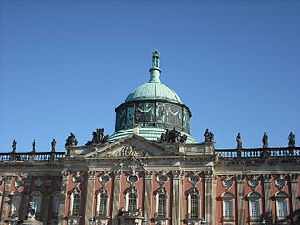 New Palace (Potsdam) - New Palace, from the west side.