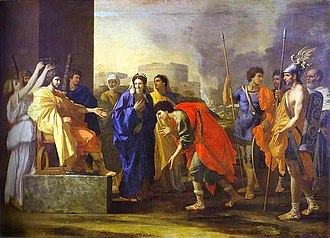 Scipione - Nicholas Poussin's painting of The Continence of Scipio, depicting his return of a captured young woman to her fiancé, having refused to accept her from his troops as a prize of war.
