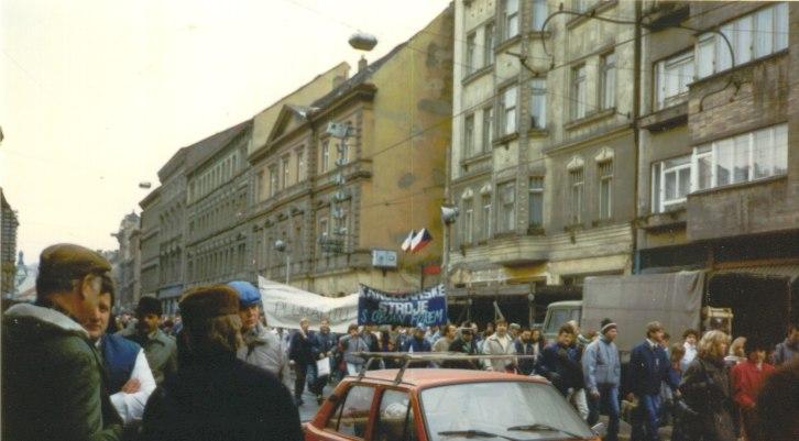 Prague November89 - street